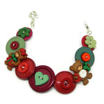 Button Bracelet - Christmas Bears
