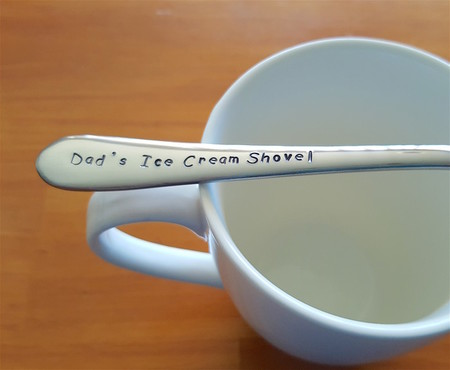 Dad`s Ice Cream Shovel,Fathers Day, Hand Stamped Spoon,Dad Present