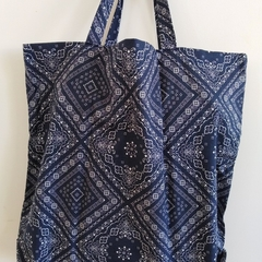Foldable eco bag / NAVY - Bandana