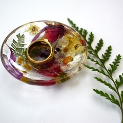 Resin Ring Dish Trinket Dish Flowers in Resin Handmade BlackwoodLily