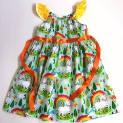 "Size 6 - ""Rainbow Unicorns"" Party Dress"