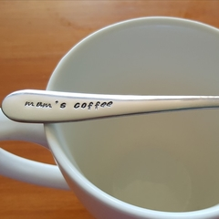 Mum`s Coffee, Coffee Gift,Mother`s Day Gift, Mother`s spoon, Mum Present.