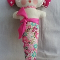 Sweetheart Mermaid Doll bright pink | Handmade with Love