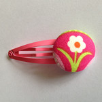 Flower fabric button hairclip