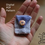 Knitting Pattern / Tooth Fairy Pouch / Children's Tooth Pouch Pattern / Kids Coi
