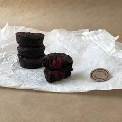 Chocolate + Raspberry Brownie Bites | Vegan + Nut Free