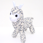 'Aldo' the Sock Alpaca - greys and cream - *READY TO POST*