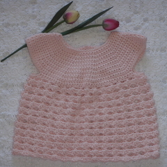 Crocheted baby girl top - size 3-6 mths
