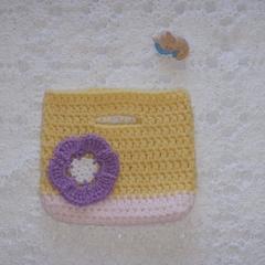 Crocheted girls bag/hand bag/ clutch purse