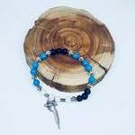 Lava Stone Diffuser Bracelet with Turquoise (Boho Style)