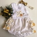 Size 000 - Nappy Pants with Appliqued Singlet and Bow