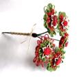 Rustic Twine Blossom Christmas Floral Stem Bouquet Vase Decoration Red