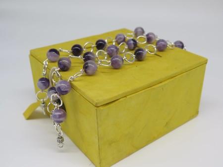 Amethyst gemstone bead bracelet