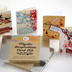Gift Tin Card Making Kit- Makes 8 Mystic Bird Cards