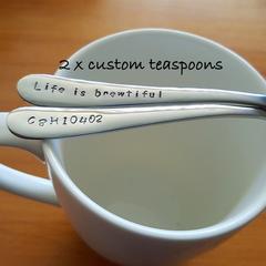 Custom Text,coffee Christmas Gift, Personalised Teaspoon,husband gift,wife gift,