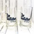 Godmother godfather gift, personalised glitter wine glass or beer mug keepsake