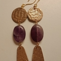 Cleo Amethyst Earrings