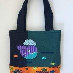 Child's handbag – tote style – whale