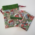 Organiser pouch set - Floral Asian Tea House Garden - Handbag accessory - Gift
