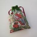 Organiser pouch set - Floral Asian Tea House Garden - Handbag accessory - Gift