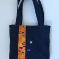 Child's handbag – tote style – whale