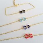 Dainty bead Gold bracelet ( Boho Cute Red Blue Yellow Green White Black Brown