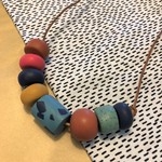 OLLEY 8 bead Chunky necklace (Short)