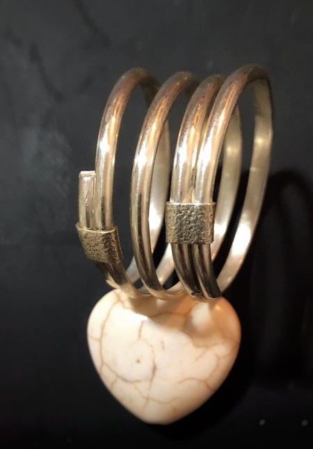 Recycled sterling silver BOHO style wrap ring.