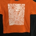 "Size 6 Orange 100% Cotton T-Shirt ""Spider Web"""