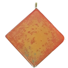 Large Orange and Red Pendant
