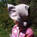 Adjustable Linen Baby Sun Bonnet - Dusky Pink