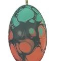 Tri-colour Abstract Oval Pendant