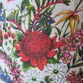 Vintage Retro Australian Banksia Wildflowers Cushion