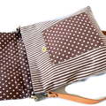 Messenger Bag - 'White Dots'