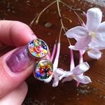 Cute rainbow bead earrings, pride jewellery, beadwork, christmas gift.