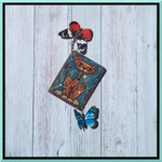 WHIMSY CAT GIFT TAG  ART TAG