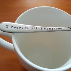 Spooning Since,Custom , Wedding, Anniversary Gift, Husband Gift,Wife Gift