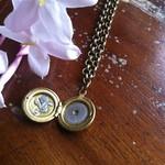 Tiny, delicate pendant, clockwork steampunk  necklace, minimalist jewellery.