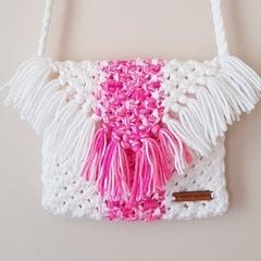 Handmade Cross Body Macrame Bag - Medium