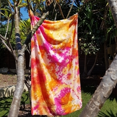 Hand Dyed Cotton Beach Towel