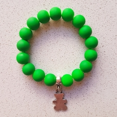 Green Teddy Bear Bracelet