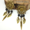 Dreamcatcher Lava Stone Diffuser Earrings // FREE SHIPPING!