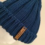 Blue merino beanie mens or ladies