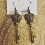 Queen Key Long Earrings