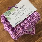 Pastel Purple/Pink Knitted dishcloths-Pack of 2