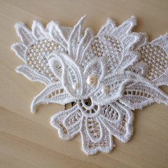 Coco Cotton Ivory Wedding Hair Comb