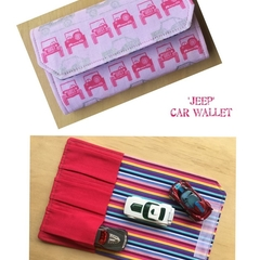 Car Wallet, car carrier, car case, pink and silver