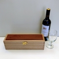 Wooden Wine Bottle Box - Hand Made from reclaimed Australian Oak and Jarrah