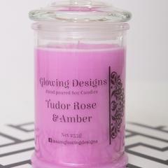 Tudor Rose & Amber scented soy wax candles - Medium - Handmade in Australia