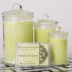 Coconut & Lime scented soy wax melt/tart - Handmade in Australia